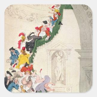 The Exhibition Stare Case, c.1800 Square Sticker