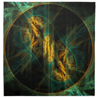 The Eye of the Jungle Abstract Art Napkin