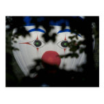 The eyes of a clown postcard