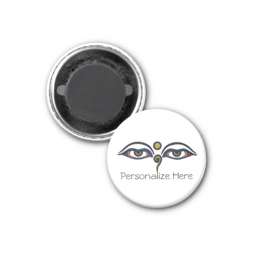 The Eyes of the Buddha Refrigerator Magnet