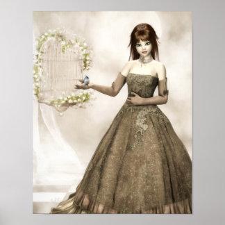 The Fairytale Princess Canvas/Poster Print