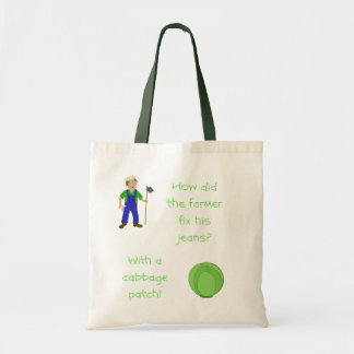 The farmer and the cabbage tote bag