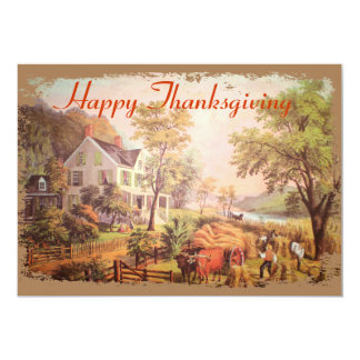 The Farmers Harvest Thanksgiving Invitation