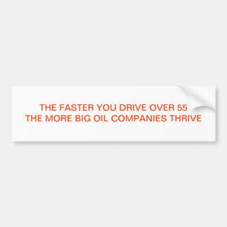 THE FASTER YOU DRIVE CAR BUMPER STICKER