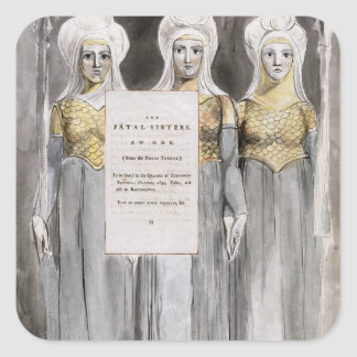 The Fatal Sisters, design 67 from 'The Poems of Th Square Sticker