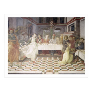 The Feast of Herod (fresco) (see also 60432) Postcard