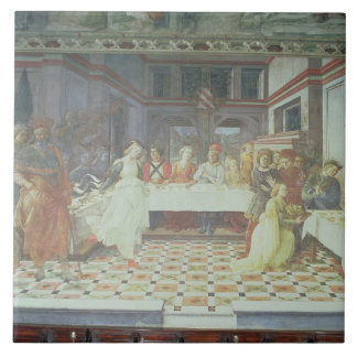 The Feast of Herod, from the cycle of The Lives of Large Square Tile