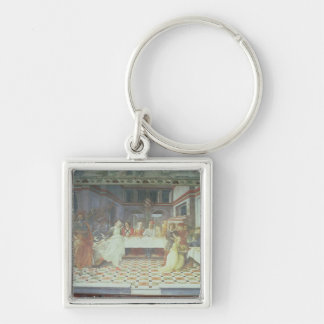 The Feast of Herod, from the cycle of The Lives of Silver-Colored Square Key Ring
