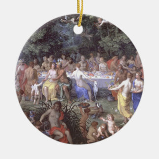 The Feast of the Gods (oil on canvas) Christmas Tree Ornament