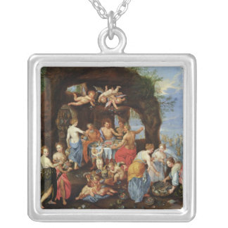 The Feast of the Gods Silver Plated Necklace