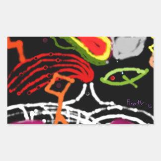 The fifth metaphysical rota rectangular sticker