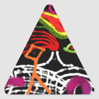 The fifth metaphysical rota triangle sticker