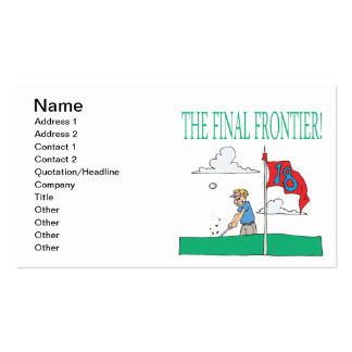 The Final Frontier Pack Of Standard Business Cards