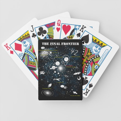 The Final Frontier Bicycle Playing Cards