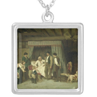 The Final Warning, 1886 Silver Plated Necklace