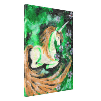 The Finger Painted Unicorn Canvas Print
