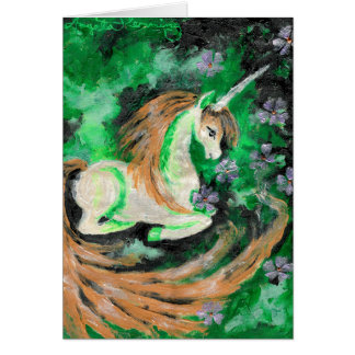 The Finger Painted Unicorn Card