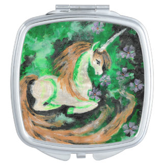 The Finger Painted Unicorn Compact Mirror