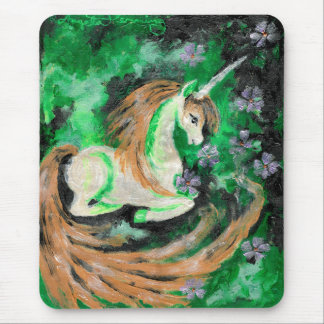 The Finger Painted Unicorn Mousepad