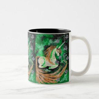 The Finger Painted Unicorn Two-Tone Mug