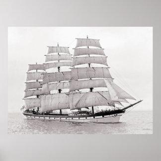 The Finnish Ship Gustav Erickson Poster