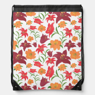 The Fire Lily Drawstring Bag