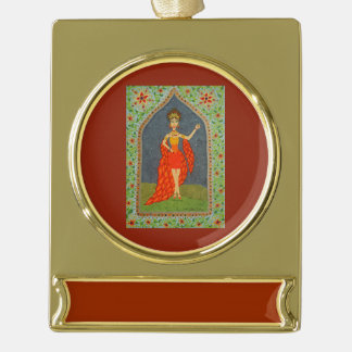 The Firebird (Fairy Tale Fashion Series #1) Gold Plated Banner Ornament