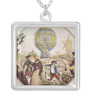The First Aerial Voyage by Monsieur Francois Silver Plated Necklace