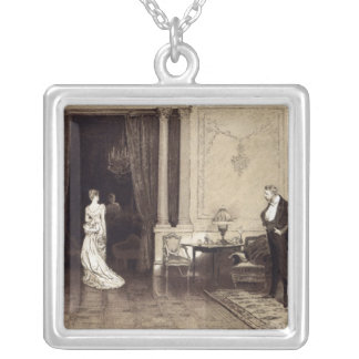 The First Cloud, from 'Leisure Hour', 1888 Silver Plated Necklace