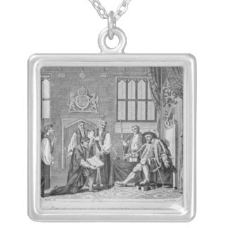 The first English translation of the Bible Silver Plated Necklace