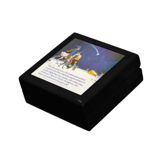 The first good news the world and mankind received small square gift box