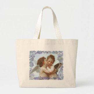 THE FIRST KISS, C.1873 William Bourgeau Large Tote Bag