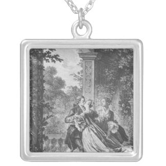 The first kiss of love silver plated necklace
