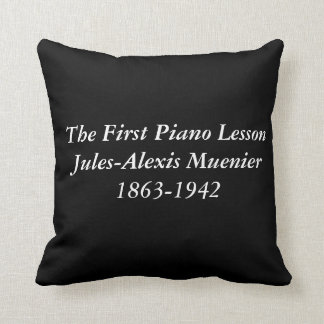 The First Piano Lesson by Muenier Cushion