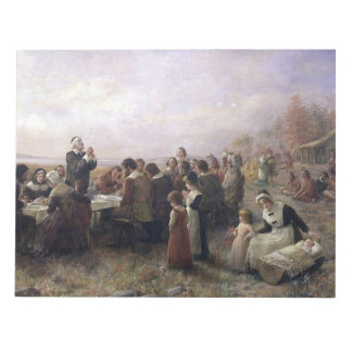 The First Thanksgiving at Plymouth by Brownscombe Notepads