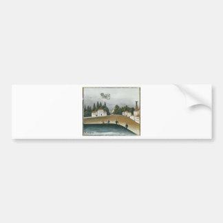 The Fishermen and the Biplane by Henri Rousseau Bumper Sticker