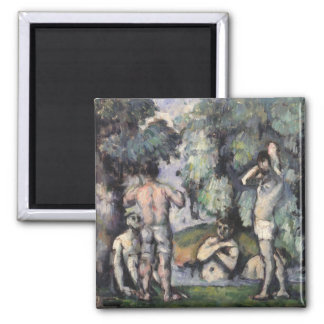 The Five Bathers, c.1875-77 Square Magnet