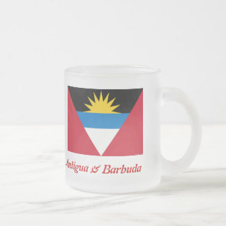 The Flag of Antigua & Barbuda Frosted Beer Mug