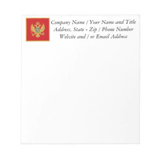 The Flag of Montenegro Notepad