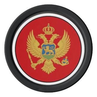 The Flag of Montenegro Poker Chips