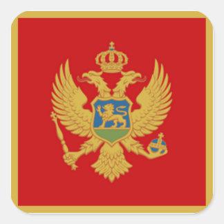 The Flag of Montenegro Square Sticker