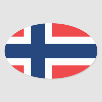 The Flag of Norway - Scandinavia Oval Sticker