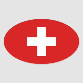 The Flag of Switzerland Oval Sticker