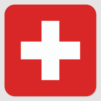The Flag of Switzerland Square Sticker