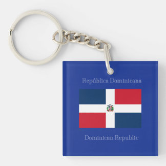 The flag of the Dominican Republic Key Ring