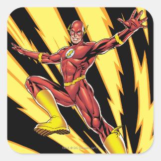 The Flash Lightning Bolts Square Sticker