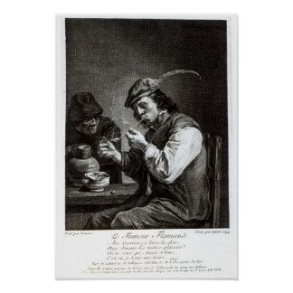The Flemish Smoker Print