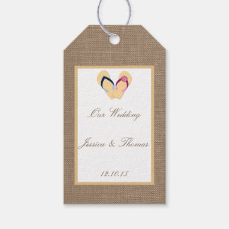 The Flip-Flop Sand Beach Burlap Wedding Collection