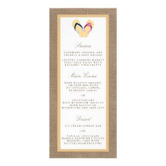 The Flip-Flop Sand Beach Burlap Wedding Collection Customized Rack Card
