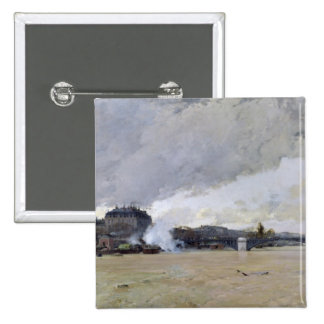 The Flooding of the Seine, c.1903 15 Cm Square Badge